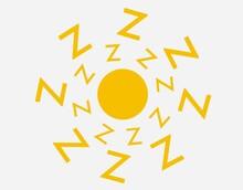 Zで燃え上がる黄色の太陽