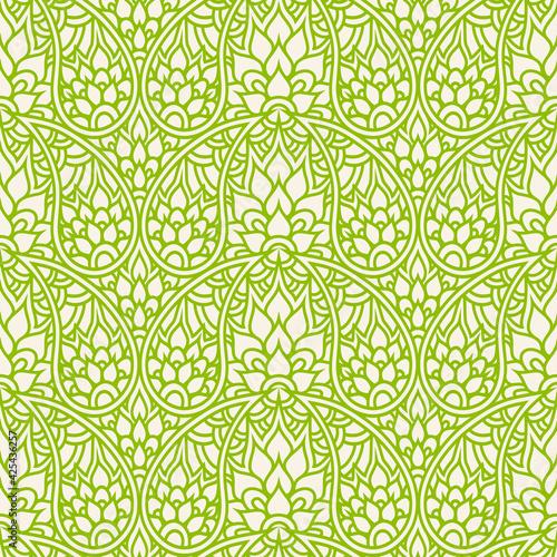 Tapety Orientalne  wzor-paisley-monochromatyczne-powtarzajace-sie-doodling-tlo-zielona-tapeta-w-kwiaty-ozdobna-ozdoba-na-tkaniny-tekstylia-papier-pakowy-indyjski-tradycyjny-wzor-paisley