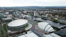 The SSE Hydro, Glasgow. Aerial Forward