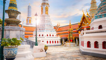 Wat Phra Kaew In Bangkok Thailand Is A Sacred Temple And It's A Part Of The Thai Grand Palace, The Temple That Houses An Ancient Emerald Buddha