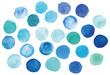 涼し気な水彩装飾 水玉