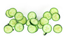 Many Cucumber Slices, Flying In The Air