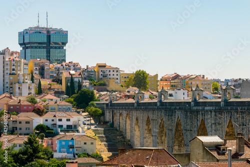 Fotografie, Obraz The Aqueduct Aguas Livres in Portuguese: Aqueduto das Aguas Livres Aqueduct of t