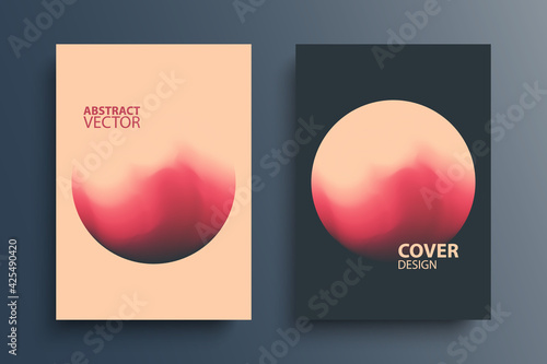 Fotografia Brochure cover template layouts with gradient orbs round shapes
