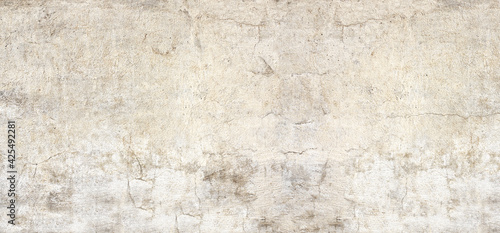 Obraz Texture of old wall with cracked stucco of beige color - fototapety do salonu