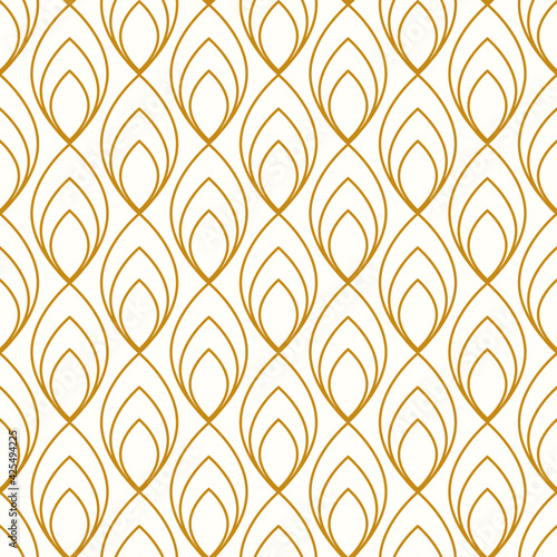 Billede på lærred Vintage Art Deco Seamless Pattern. Geometric decorative texture