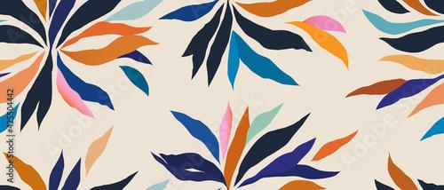 Canvas Print Hand drawn contemporary floral print