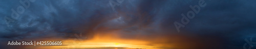 Fototapeta  Beautiful cloud in the sunrise sky background. Sky banners background. Natural background of the colorful panorama sky. obraz