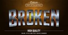 Editable Text Style Effect - Broken Rusty Text Style Theme.