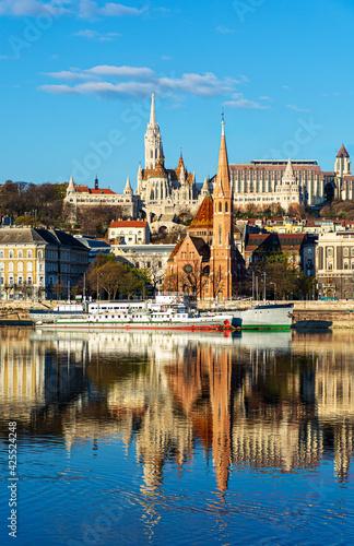 Foto Hungary, Budapest, beautiful architecture, fishermen's bastion on the banks of t