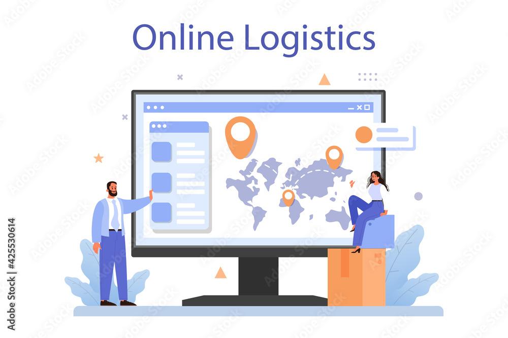 Fototapeta Raw material supply online service or platform. Suppliers, B2B idea,