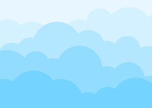 Blue Sky With White Clouds. Vector Background.