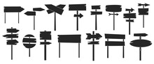 Wooden Post Vector Illustration On White Background. Isolated Black Set Icon Signpost. Vector Black Set Icon Wooden Post.