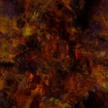 Grunge Distressed Dark Orange Yellow Red Splashed Textured Design, Old Messy Warm Autumn Background, Grain Illustration Backdrop