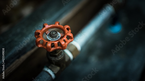 Fotografie, Obraz Piping Control Valves