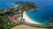 Drone View Of Beautiful Resort In Hon Tre Island, Nha Trang, Vietnam