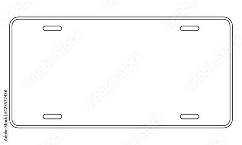 Fotografie, Obraz Blank license plate template. Clipart image