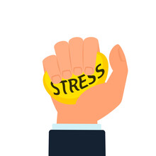 Stress Ball Squeeze Illustration. Clipart Image