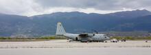Airplane Plane C-130 Military In Ioannina Airport Greece