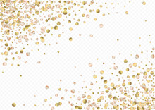 Bronze Round Shiny Transparent Background. Luxury Dot Background. Yellow Dust Rich Pattern. Sequin Anniversary Backdrop.