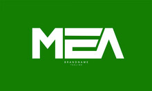 Alphabet Letters Initials Monogram Logo MEA, ME, EA
