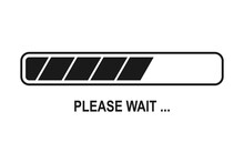 Please Wait Background With Loading Bar Symbol In Vector Icon