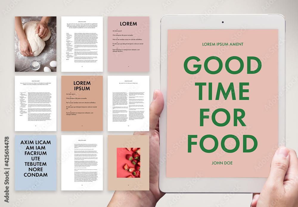 Fototapeta Fresh and Unconventional Digital Cookbook Layout