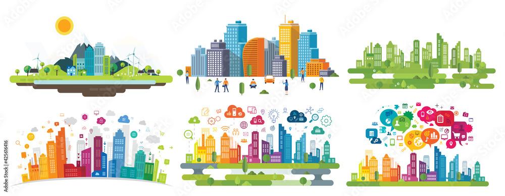 Fototapeta smart city