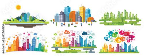 Stampa su Tela smart city