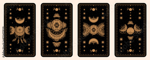 Obraz na plátně Mystical tarot desk card