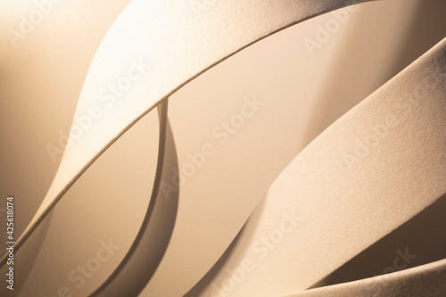 Fototapeta White curved elements with grainy background, abstract obraz