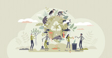 Biodiversity And Natural Species Environmental Protection Tiny Person Concept