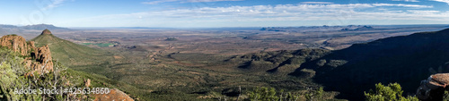 Foto View of the arid mainland in the Cape Town region, Anysberg Nature Reserve, Sout