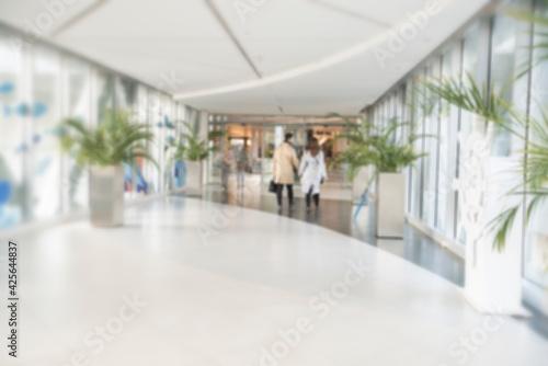 Abstract blur shopping mall corridor Fototapet