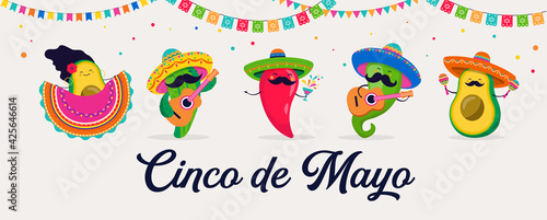 Leinwand Poster Cinco de Mayo - May 5, federal holiday in Mexico