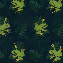 Seamless Tree Frog Pattern