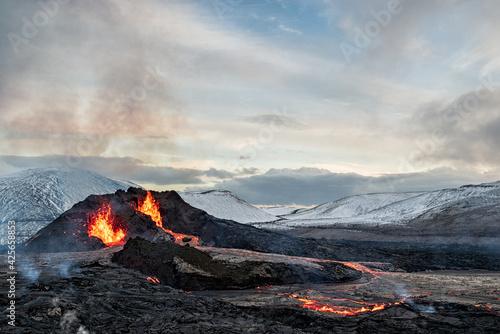 Fagradalsfjall volcanic eruption, Iceland Fototapet