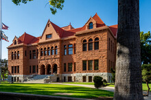 Old Orange County Courthouse, Dedicated In 1901, Is A Granite And Sandstone Romanesque Revival Building Located In The Santa Ana Historical Downtown District.