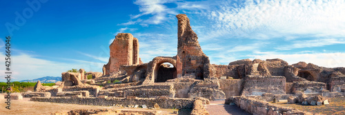 Ruins of Villa dei Quintili. Roman landscape upon Appia Way in R Fototapete