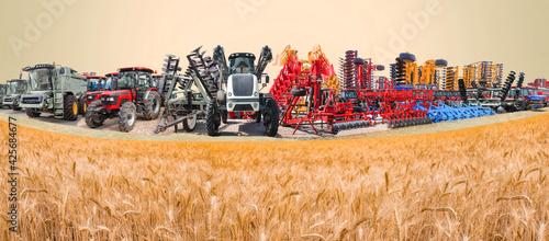 Fotografie, Obraz Collage about farm, agriculture, farming