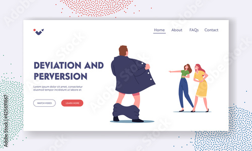Tablou Canvas Deviation and Perversion Landing Page Template