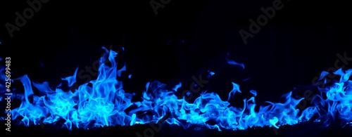 Fotografie, Obraz An image of a blue flame burning vigorously