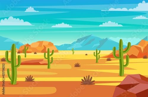 Obraz desert landscape illustration - fototapety do salonu
