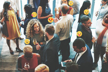 Diverse Business People Forming Connections