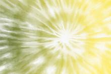 Pastel Swirl Tie Dye On Yellow Background