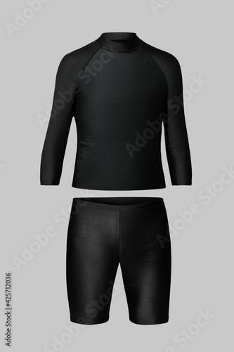 Fototapeta Men's rash guard and shorts swimwear fashion