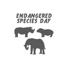 Vector Graphic Of Endangered Species Day Good For Endangered Species Day Celebration. Flat Design. Flyer Design.flat Illustration.