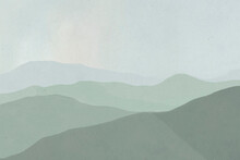 Background Of Green Mountain Range Landscape Illustration