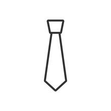 Necktie Icon Vector Illustration Design. Necktie Line Icon.Necktie Icon. Tie Symbol Line Sign Design.