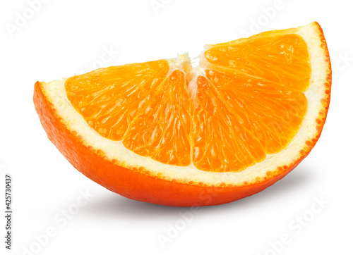 cut of orange isolated on white background. clipping path Fototapeta